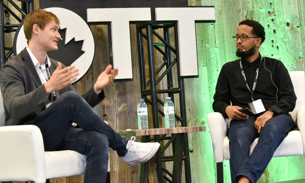 Ryan Hoover and Robleh Jama at AccelerateOTT