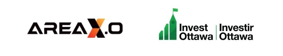 Area X.O logo and Invest Ottawa logo.